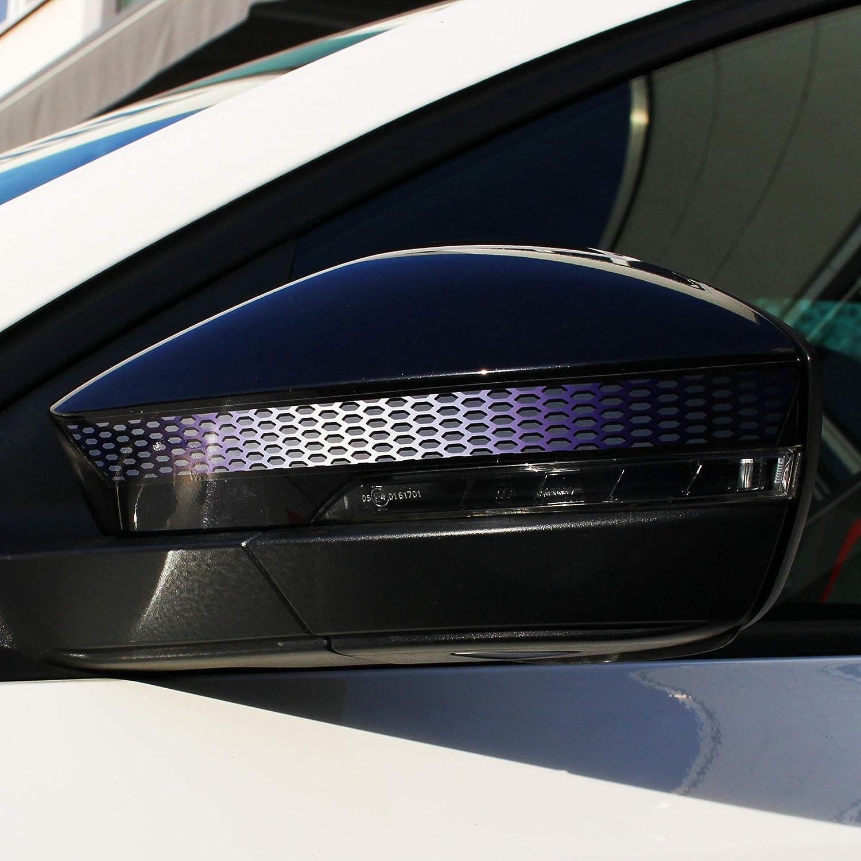 Neonrot, Farbverlauf VRS D072 Spiegelstreifen Spiegel Aufkleber Folie Streifen Dekor Au/ßenspiegel R/ückspiegel