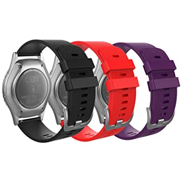 MoKo Correa Compatible con Garmin Vivoactive 3/Galaxy Watch 42mm/Galaxy Watch Active/Active 2/Gear S2 Classic/Ticwatch E, 20mm Pulsera de Silicona - ...