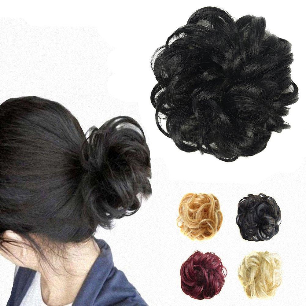 Amazon Barsdar Wavy Curly Messy Bun Updo Hairpiece Scrunchy