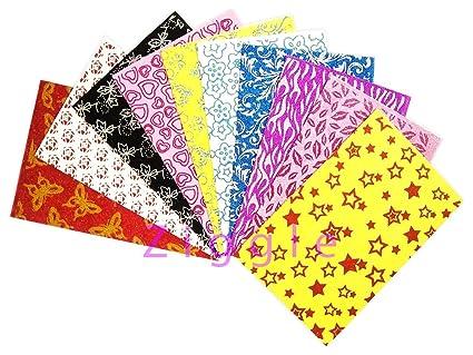 Buy Ziggle printed imported glitter foam sheets beautiful designs ...
