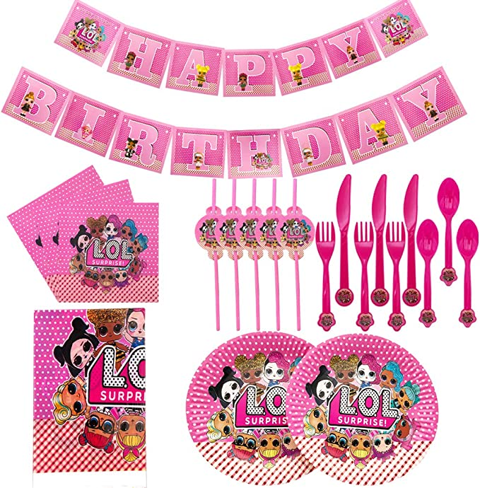Fork,Knife,Plates,Cups,Straws,Table Covers,Banner,Napkins,Tablecloth Birthday Party Favor Pack Set for 10 Kid 157Pcs dragon ball Party Favor Party Decorations Birthday Party Supplies,Spoons