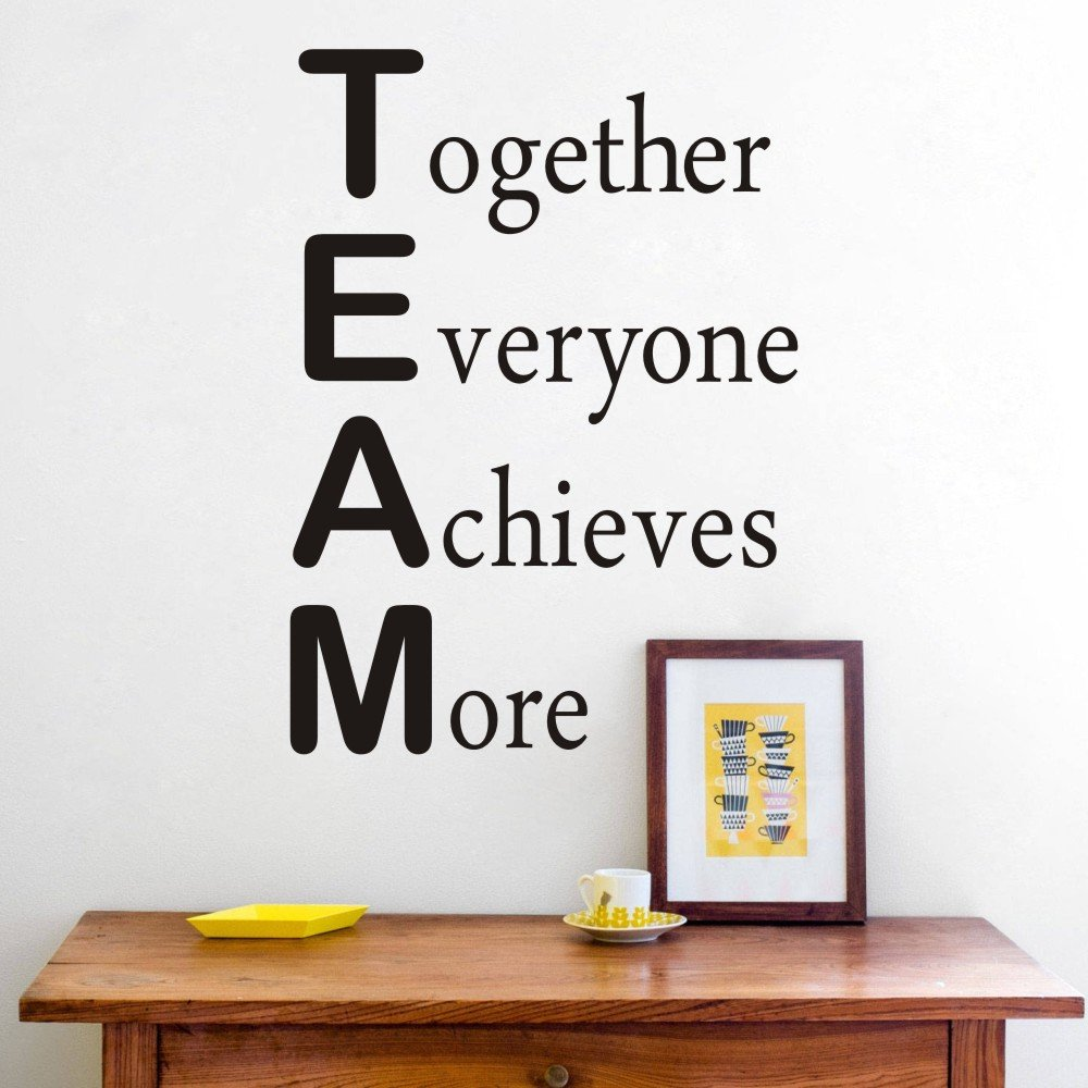 Maribeatty Wall Decal Team Motivational Quote Office Inspirational Together Everyone Achieves More Sticker Decor