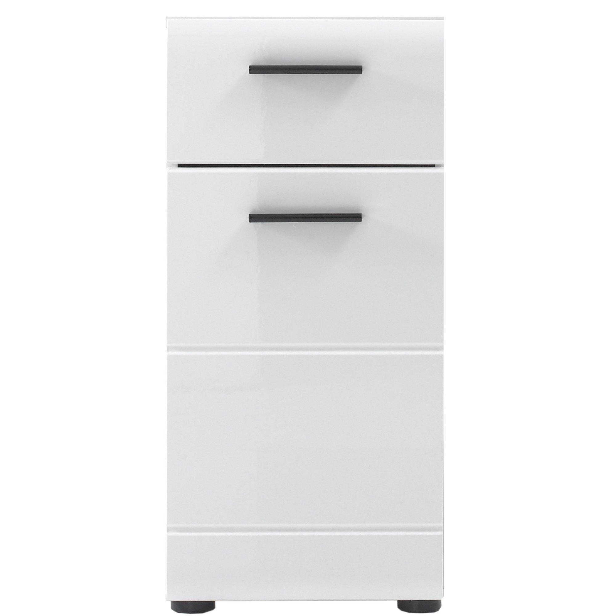 Furnline 1116 802 01 skin high gloss bathroom side cabinet - High gloss bathroom cabinets white ...