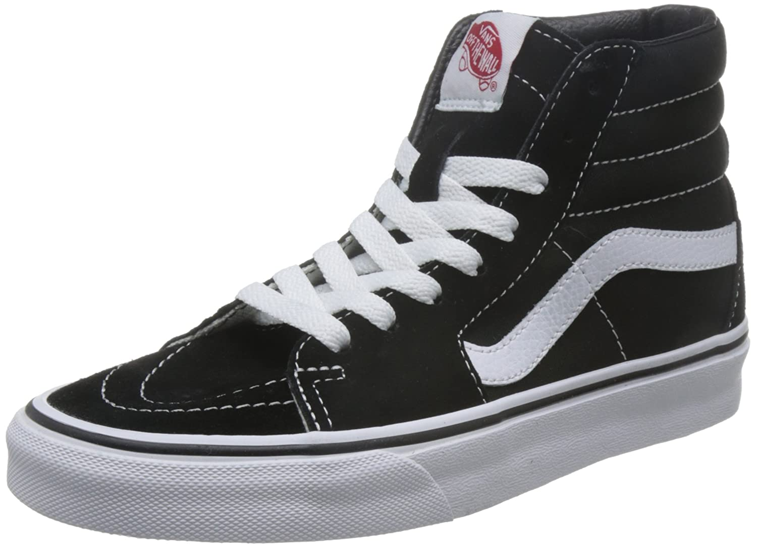 Vans Men's Sk8-Hi(Tm) Core Classics B075W7XKNH 9 M US Women / 7.5 M US Men|Black/Black/White Canvas