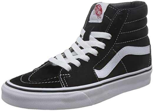 vans skate hi black and white
