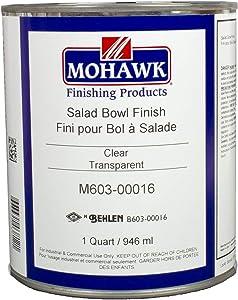 Mohawk Finishing Products M603-00016 Mohawk Qt Salad Bowl Finish, Clear