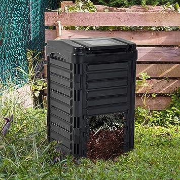 CRZJ Contenedores de compostaje de jardín, Contenedor de Basura de desperdicios orgánicos Grandes compostados en jardín Impermeable, Compost de Basura de plástico para Exteriores: Amazon.es: Hogar