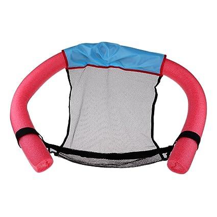 Baoblaze Premium Silla Flotador con Fideos para Actividades Acuáticas Color Opcional - Rojo