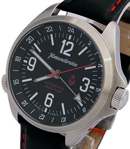 Vostok KOMANDIRSKIE K34 ruso Militar reloj negro 2426/470612: Amazon.es: Relojes