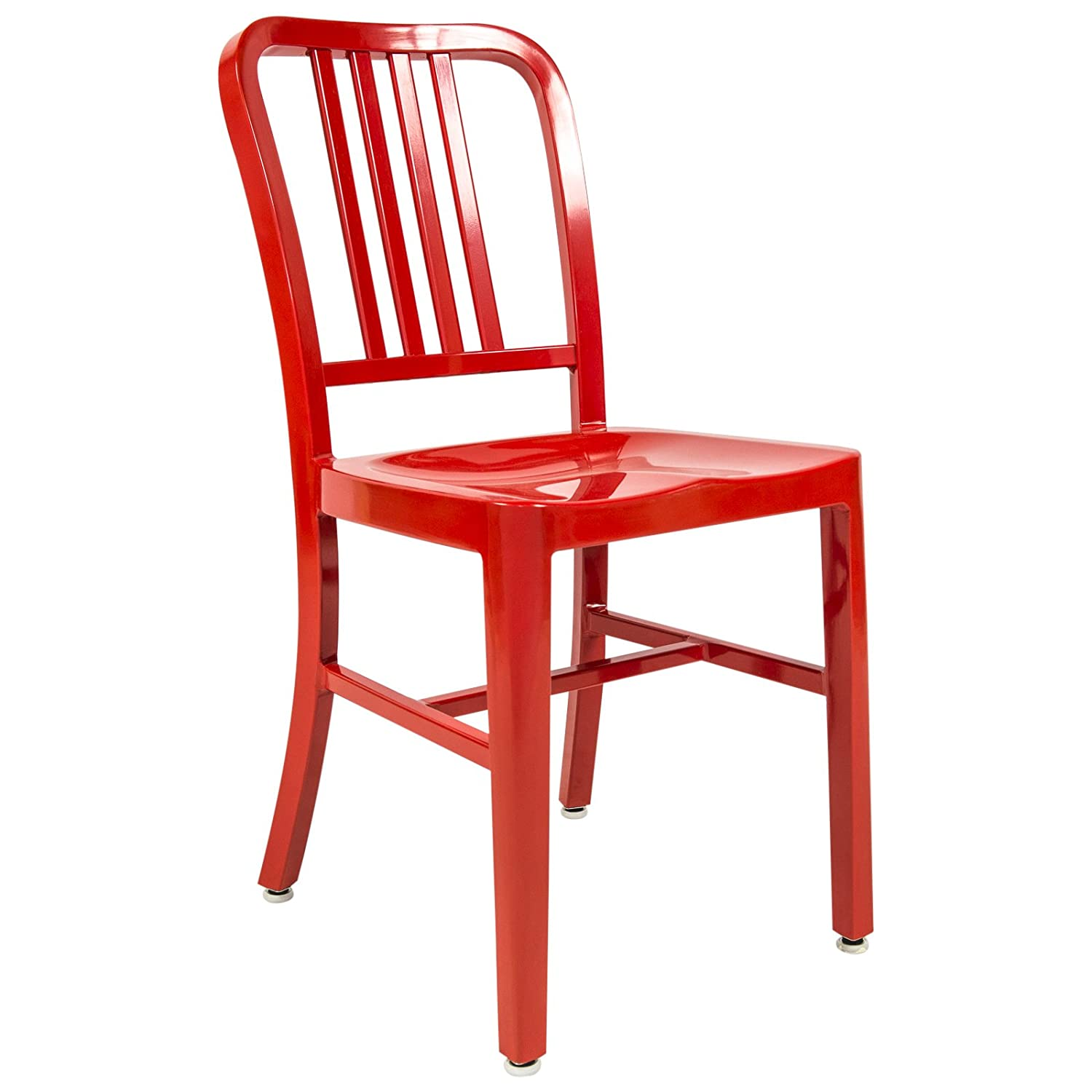 Amazon.com: LeisureMod Modern Alton Side Dining Chair in Red ...