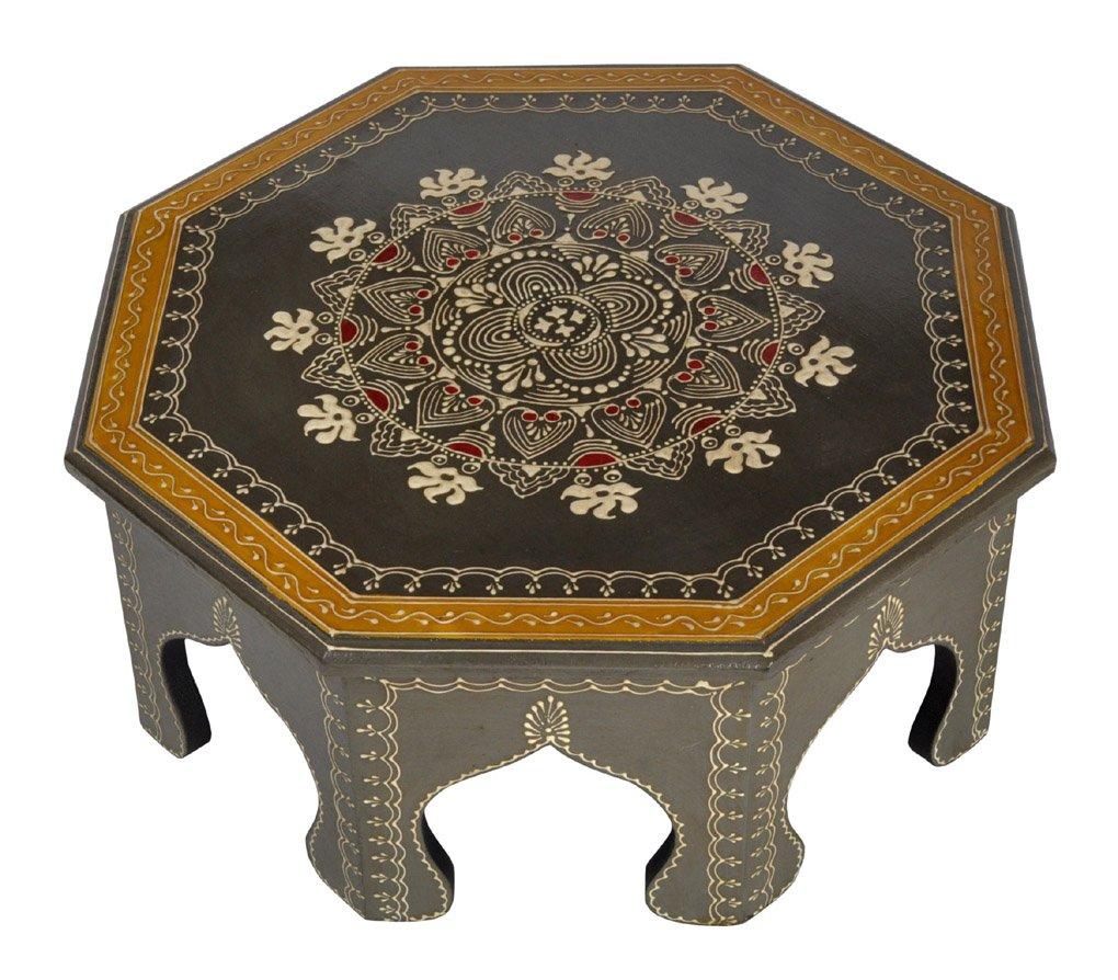 Lalhaveli Dekorative Holz Fußhocker Niedrig Mini Tisch