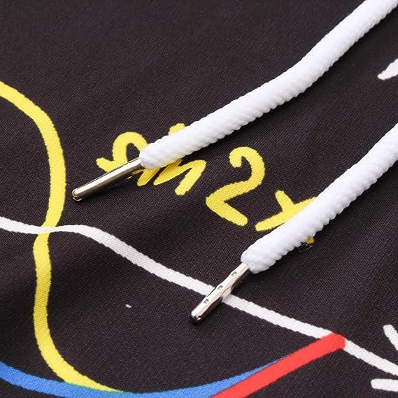 MEIbax Casual Moda Sudaderas con Capucha para Hombres de 3D Impresión Formula matematica Estampado Manga Larga de Bolsillo Abrigos Pullover Blusa Superior ...