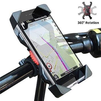 LangTek Bicicleta Soporte, Soporte Anti de Shake Soporte para teléfono móvil Bicicleta y Motocicleta,