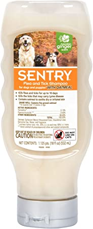 SENTRY Oatmeal Flea and Tick Shampoo for Dogs