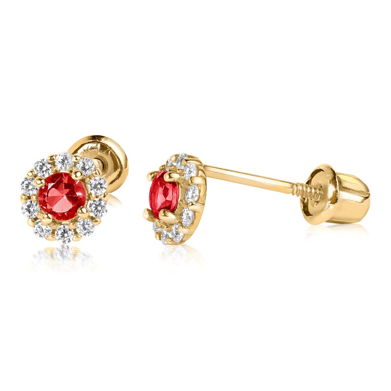 127da6627 Amazon.com: 14k YG Birthstone Stud Earrings 921 42000: Jewelry