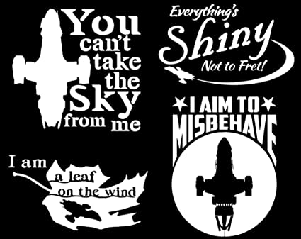 Lyniv Firefly Inspired Quotes Decal Multi-Pack White