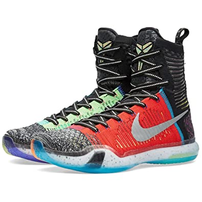 Nike Mens Kobe X Elite SE, WHAT THE KOBE-MULTI-COLOR/REFLECTIVE