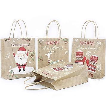 Amazon.com: 18 bolsas de papel de bronceado Kraft bolsas de ...