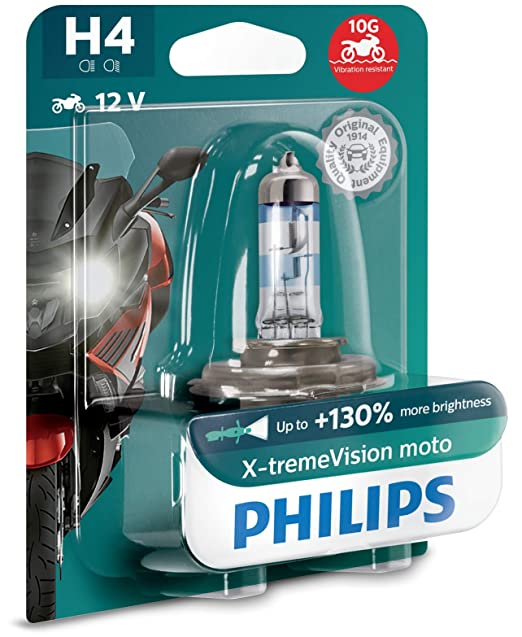 Lámpara Philips H4 X-tremeVision Moto