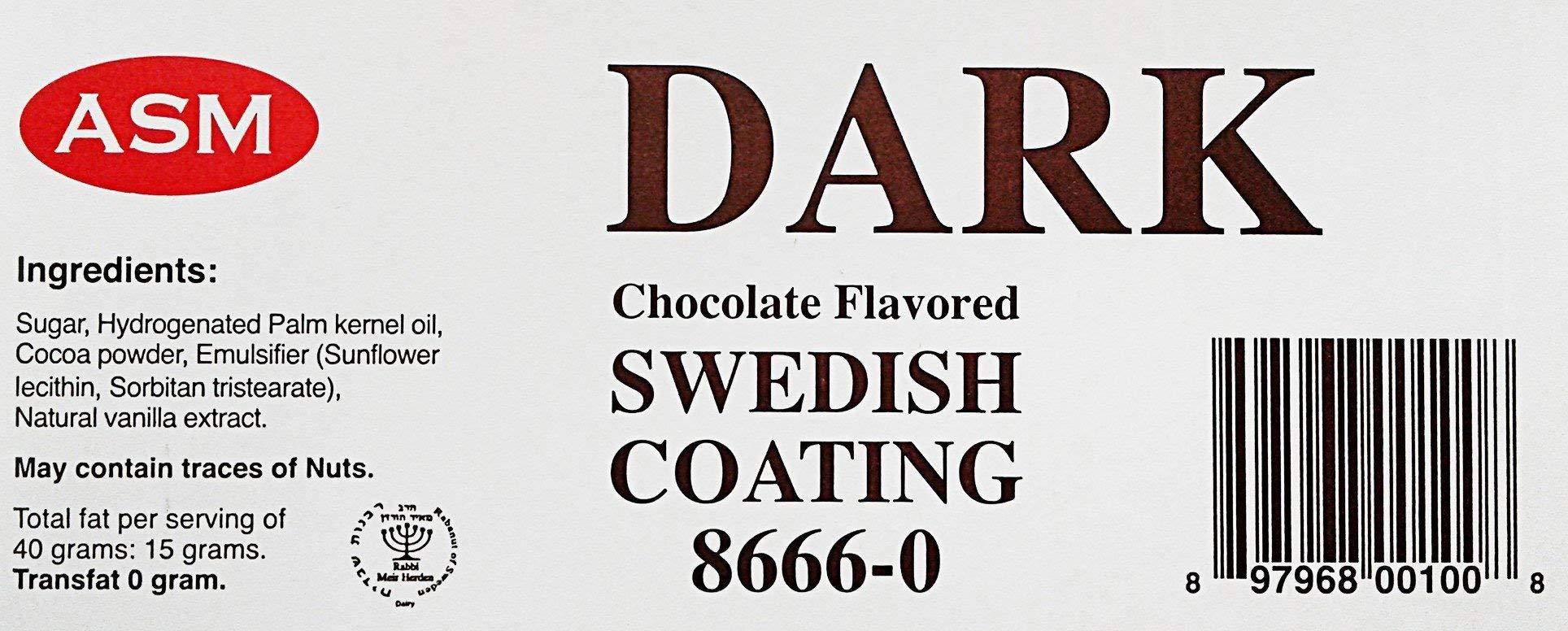 ASM Dark Chocolate Flavored Swedish Coating - Case: Six 11 lb Bars)