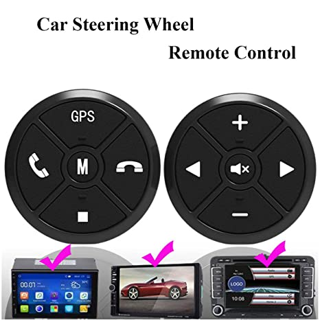 Amazon.com: Qiming Star Car Steering Wheel Buttons Controller Wireless Remote Control For Universal Car Stereo DVD GPS Navigation QS-SWC003: Car Electronics