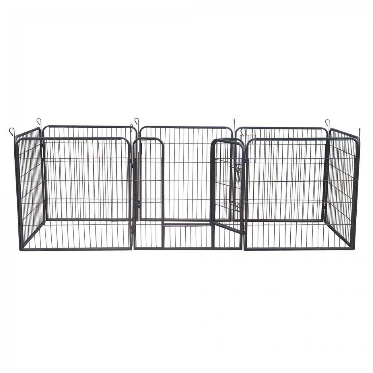 XXL 8 Pezzi zoomundo Recinto per Cani Recinzione Box Cani Conigli Animali di Ferro Cucciolo Gabbia