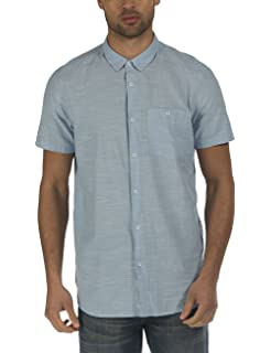 Mens Crinkle Cotton Casual Shirt Bench