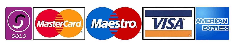 Pegatina adhesiva de medios de pagos aceptados, con Logotipos de ...