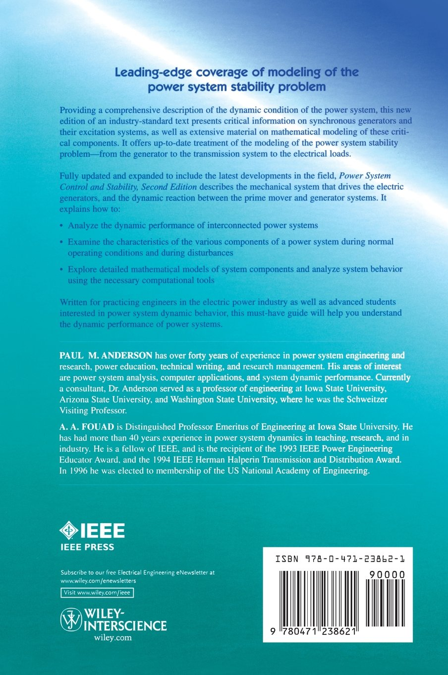 Power System Control and Stability IEEE Press Power Engineering ...