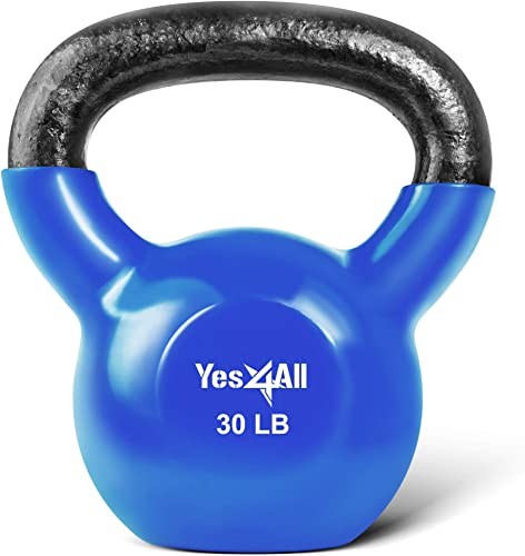 Yes4All Vinyl Coated Kettlebells Weight Available 5