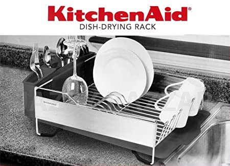 Charmant Kitchenaid Dish Drying Rack   Stainless Steel Dark Grey