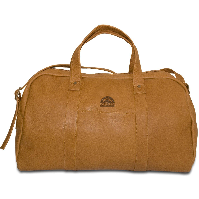 MLB Colorado Rockies Tan Leather Corey Duffel Bag