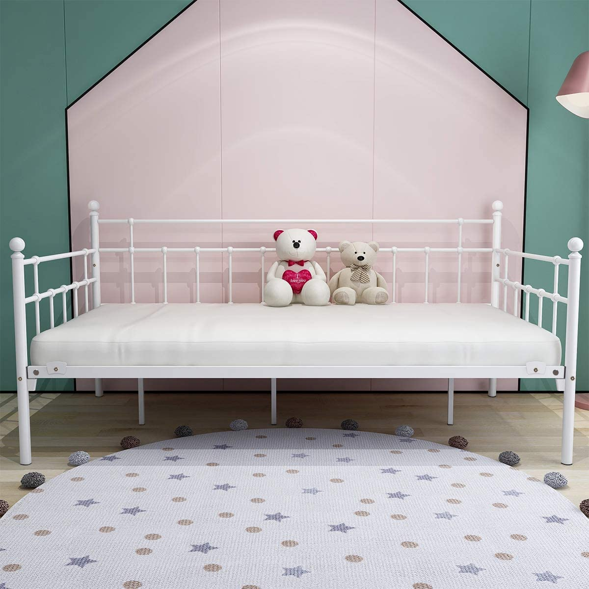 HOMERECOMMEND Metal Daybed Frame, Twin