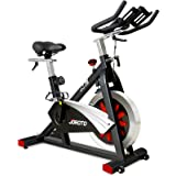JOROTO Belt Drive Indoor Cycling Bike with Magnetic Resistance Exercise Bikes Stationary ( 300 Lbs Weight Capacity ) (Updated