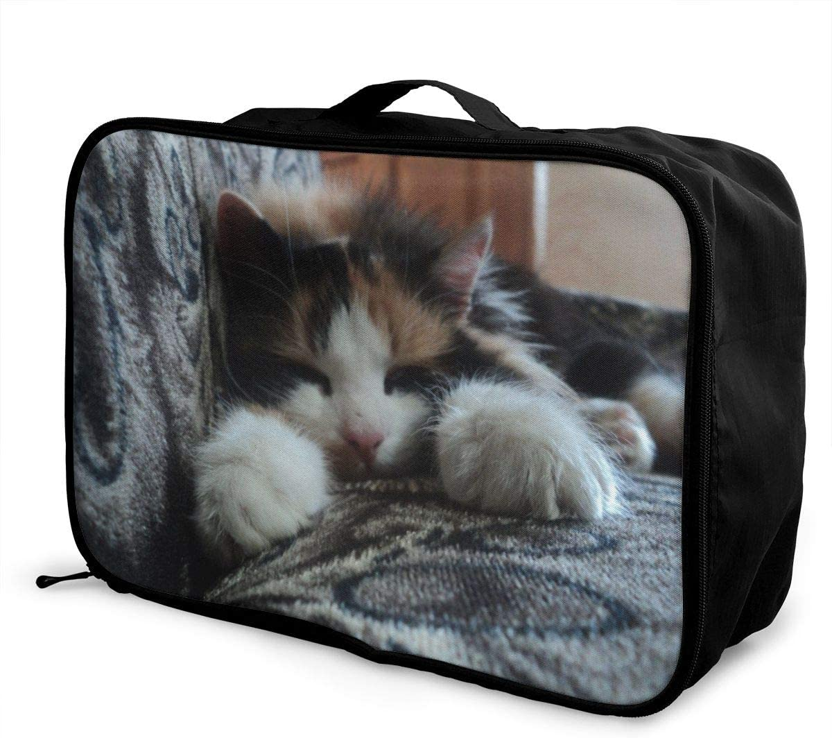Yunshm A Cat That Sleeps On The Couch Customized Trolley Handbag Waterproof Unisex Large Capacity For Business Travel Storage