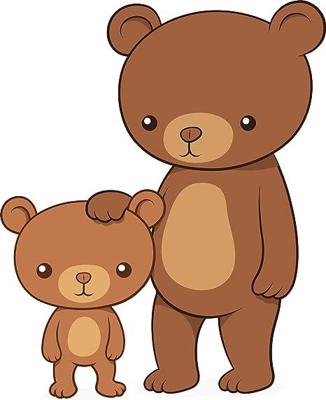 Amazon.com: Cute Mamá y el bebé oso dibujos animados vinilo ...