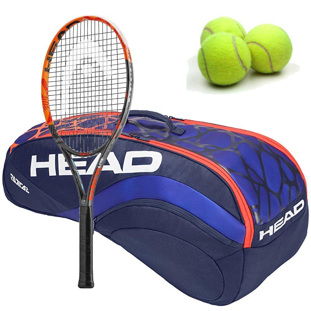 Head Graphene XT Radical Lite Midplus 16 x 19テニスラケットグラファイトキットまたはセットバンドルwith aテニスバッグ、(1 ) Can 3のテニスボール 4 3/8\ Radical 12R Monstercombi B07FMKRD34