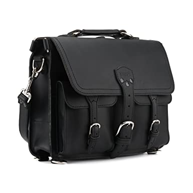 Saddleback Leather Co. Thin Front Pocket Leather Briefcase for Men Includes  100 Year Warranty efa70bde25073
