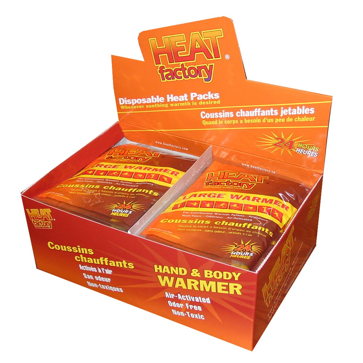 Heat Factory Hand and Body Heat Warmers, 30 Pack, Large by Heat Factory