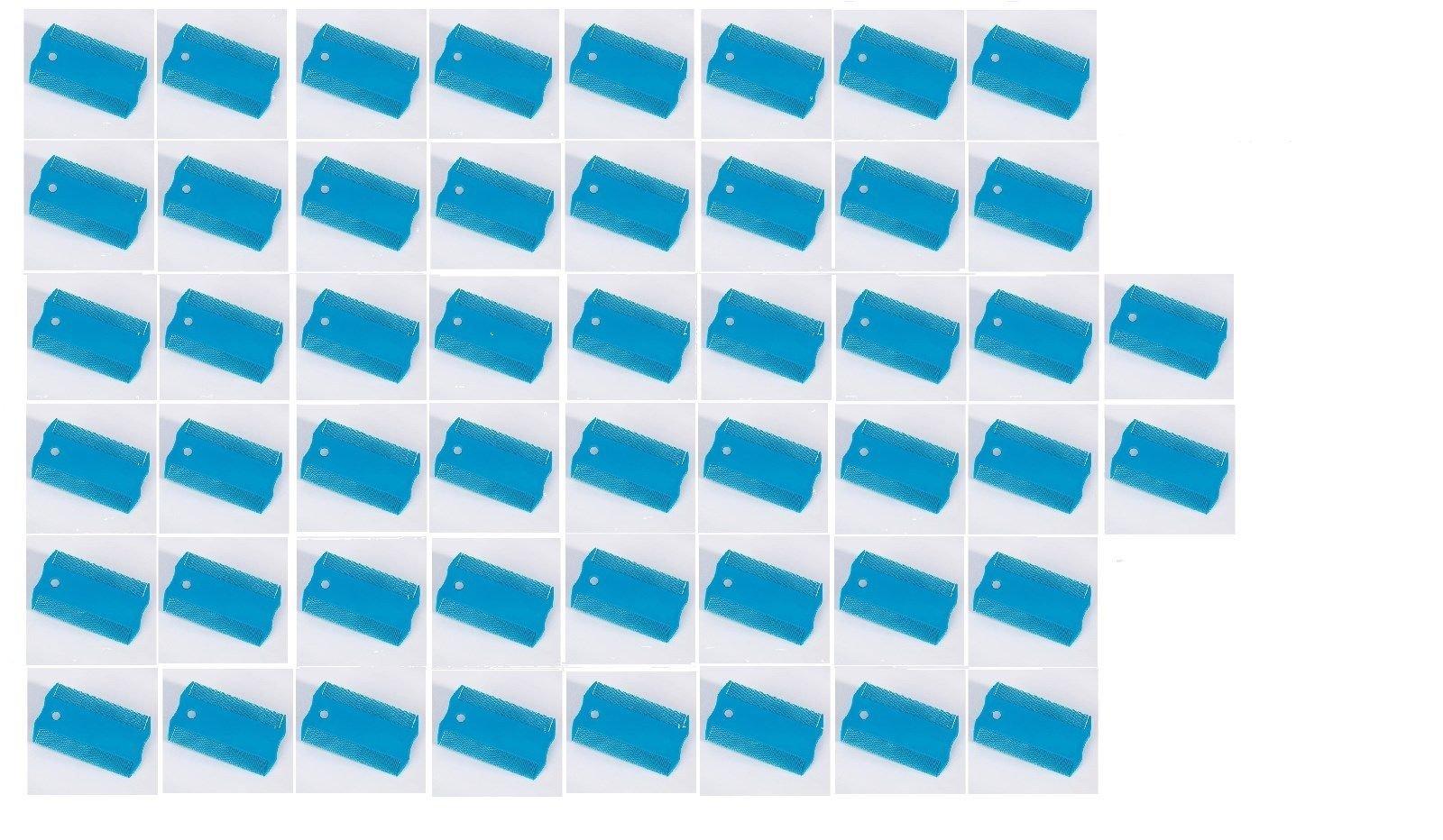 Blue Dog Flea Combs for Dogs Cats & Pets Removes Eggs Debris - Choose Quantity(50 flea combs)