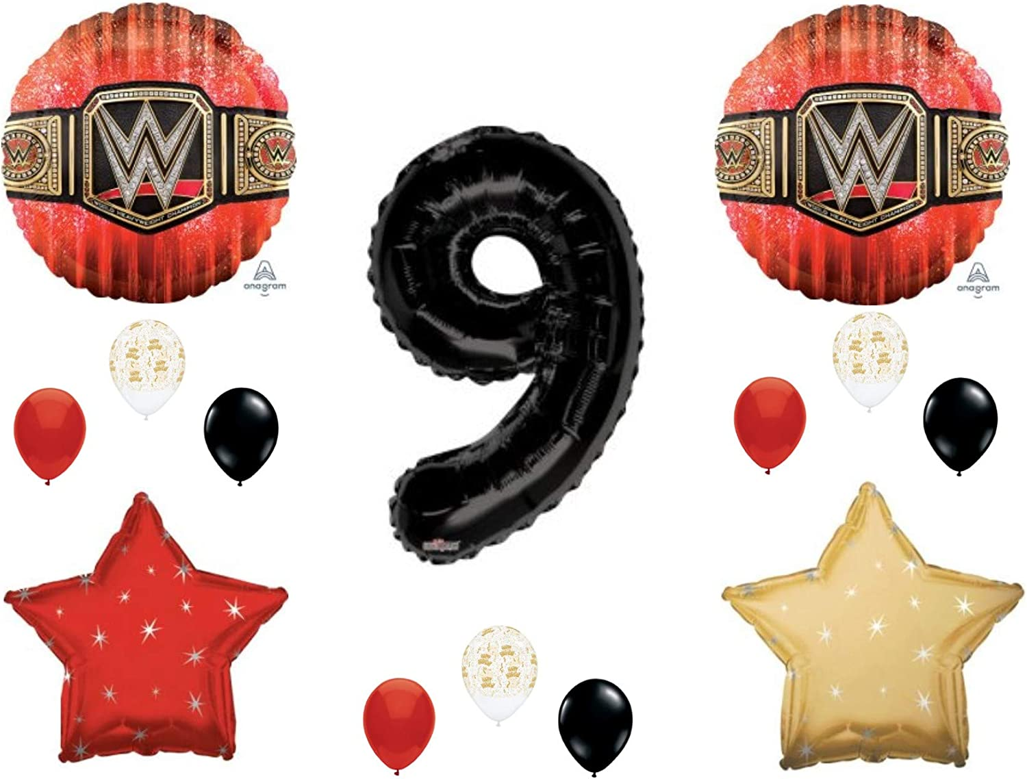 WWE Birthday Party Supplies Balloon Bouquet Select from Age 1 to 9