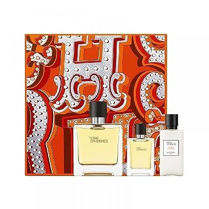 Hermes Paris Terre DHermes Perfumé Pure, After Shave Balsam y Miniatura - 1