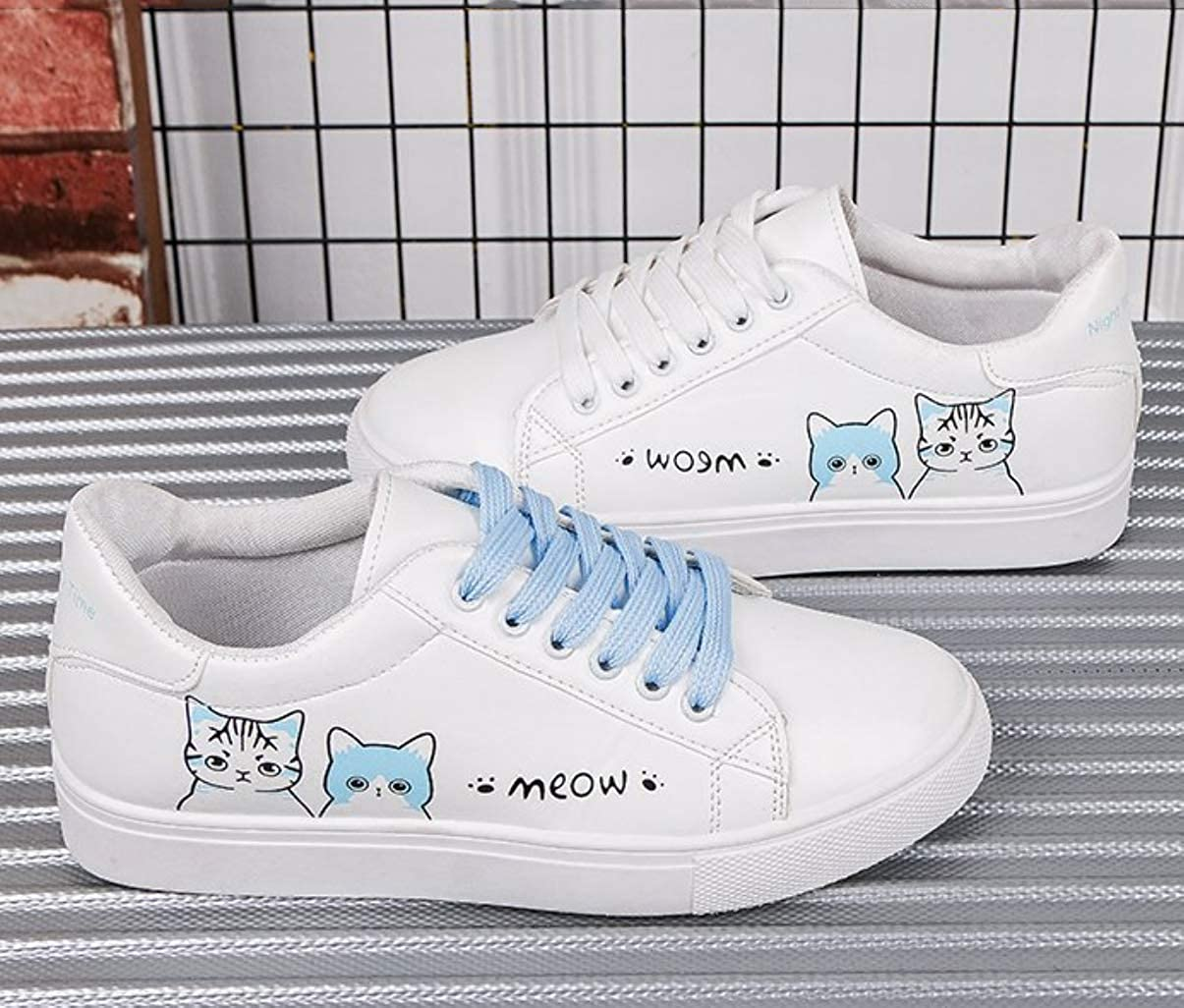 Cute Cat Printing Sneakers Canvas Shoes