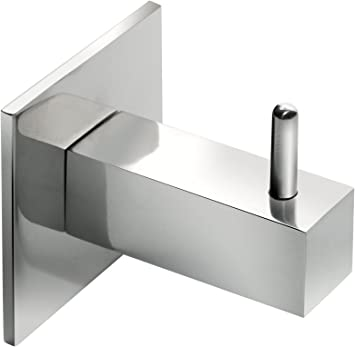 Percha Toallero cuadrado para pegar en cristal de mampara de ducha. Acero inoxidable. Incluye adhesivo doble cara 3M-VHB (Mate): Amazon.es: Bricolaje y herramientas