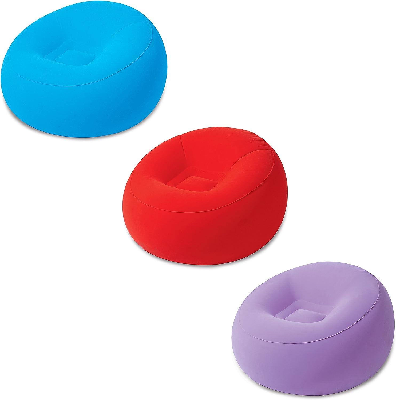 Bestway 75052 - Sillón Hinchable Inflate-A-Chair 112x112x66 cm