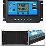 Mohoo 20A Charge Controller Solar Charge Regulator Intelligent USB Port Display 12V-24V