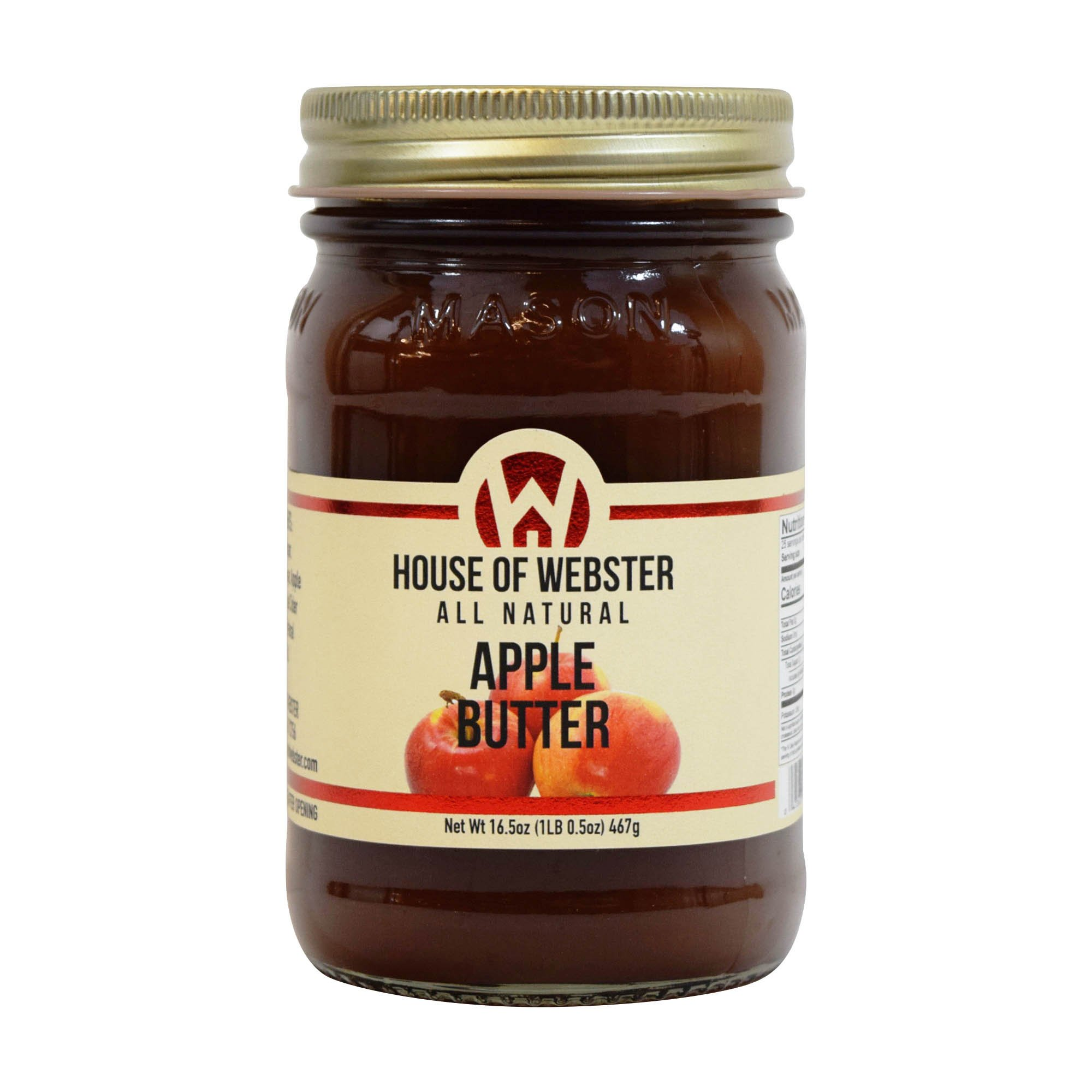 House of Webster All Natural Apple Butter Fruit Spread 16.5 oz
