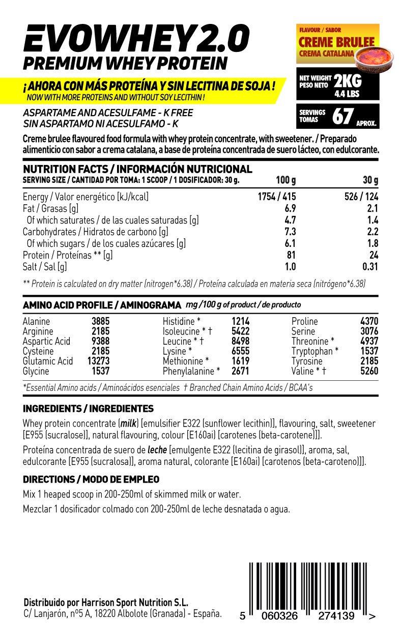 Whey Protein Concentrate (WPC) de HSN Sports - Concentrado de Proteína de Suero Evowhey 2.0 - Sabor Yogur y Melón - 500 gr: Amazon.es: Salud y cuidado ...