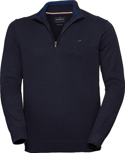 2019 rabatt verkauf schön Design großer Rabatt Daniel Hechter Herren Zipper-Pullover in Mehreren Farben, eleganter  Strickpullover mit Troyer-Kragen, aus Reiner Baumwolle, Gr. 48 – 60