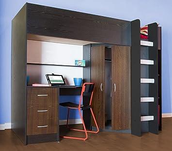Mobilier De Chambre A Coucher Avec Lit Superpose M227 Amazon Fr